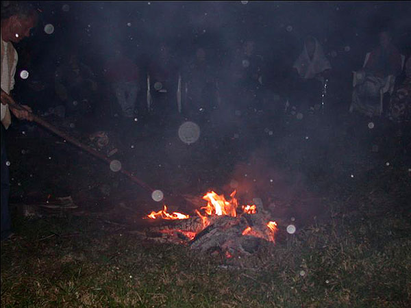 Night Orbs around the fire